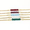 May Birthstone Bar Necklace