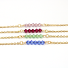 June Birthstone Bar Necklace