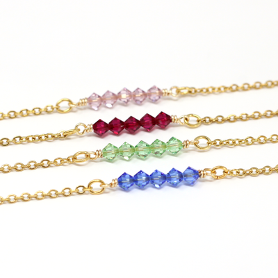 July Birthstone Bar Necklace