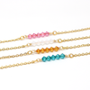 December Birthstone Bar Necklace