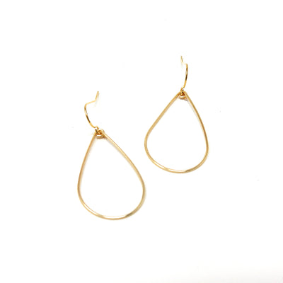 gold wire teardrop earrings