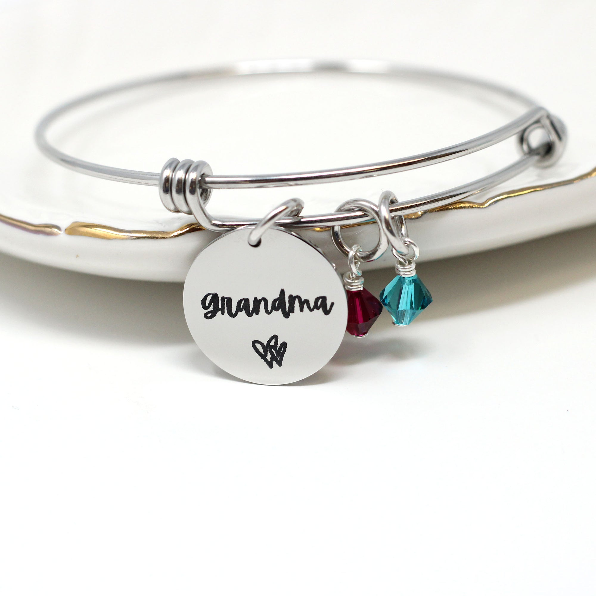 Personalized Grandmother Birthstone Bracelet