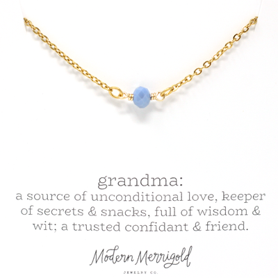 Grandma Definition Necklace - Ivy