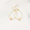Ivy Earrings - Teardrop Hoop Crystal Earrings