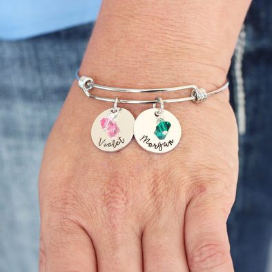 Personalized Birthstone & Name Bracelet