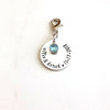 Personalized Something Blue Bouquet Charm
