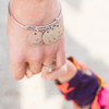name bangle bracelet mom and daughter holding hands
