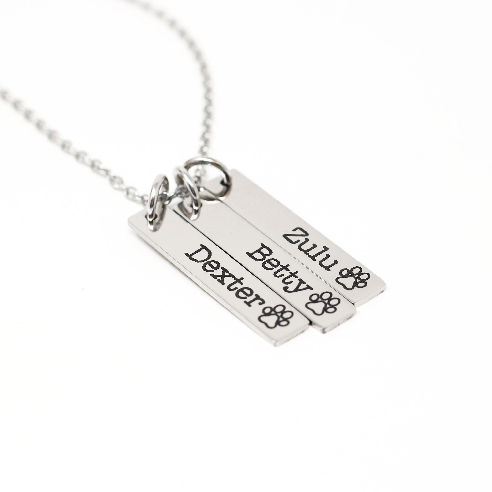 Personalized Pet Bar Necklace