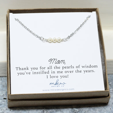 Mom Pearl Necklace