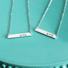 Personalized Two Initial Bar Necklace