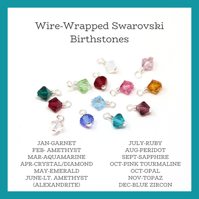 Wire Wrapped Birthstone Charm