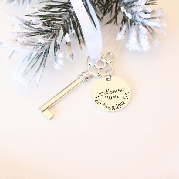 Personalized New Home Key Ornament