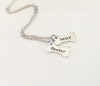Hand Stamped Dog Bone Charm (Charms Only)