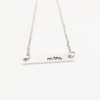 two initial bar necklace