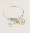 Personalized Date & Initial Bracelet