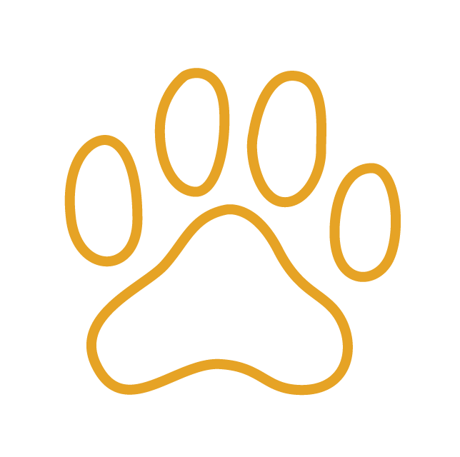Paw Print Icon - We support local shelters
