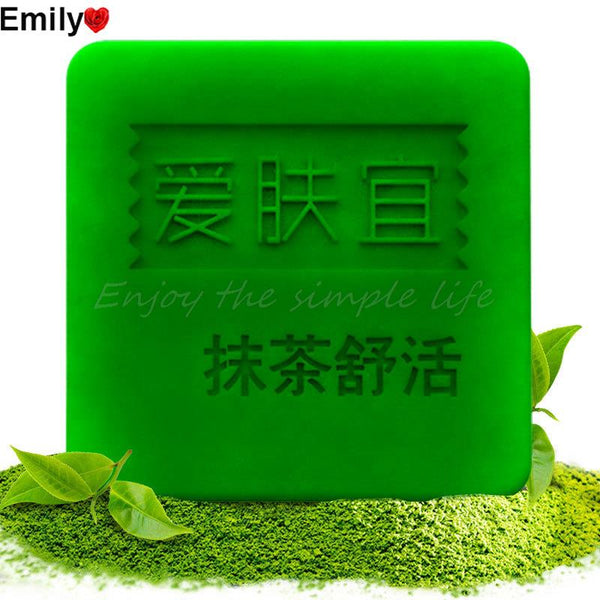 AFY Bamboo Charcoal + Matcha Facial Soap Cleanser Black Head Remover Acne Treatment Oil Control Whitening Skin Care Face