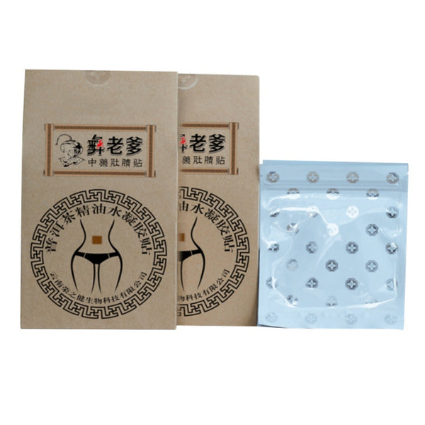 Traditional Chinese medicine Tea Sheet Beauty Health Slimming Detox Adhe Slimming Weight Lose Paste Navel Slim Patch Patch