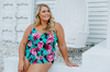 Costa Rica Plus Size Frill Tankini Top