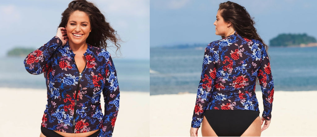 Plus Size Rash Guard