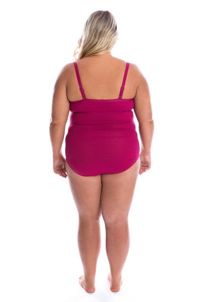 plus size swimdress with underwire