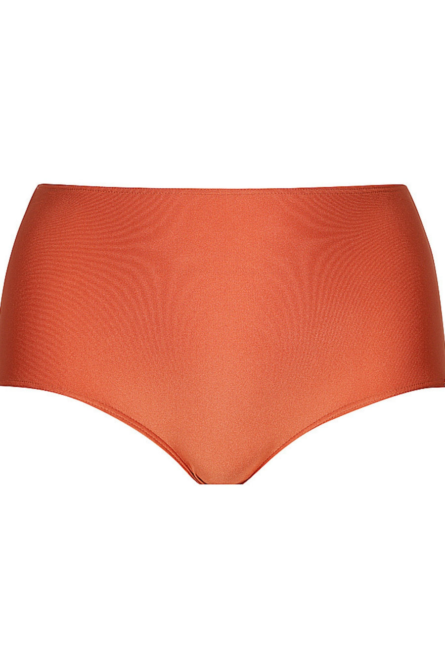 Rust | high waisted swim bottoms
