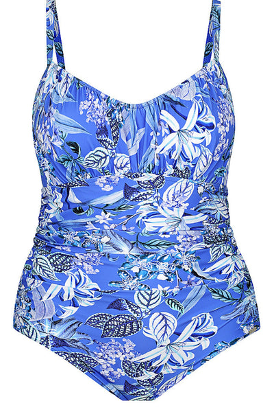 Blue Hawaii Ruched One Piece