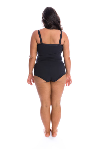 women's one piece swimsuit with shorts