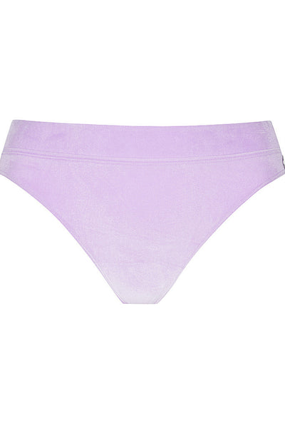 Soft Velvet Lilac High Cut Pant