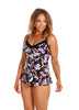 Black Tropics Underwire Tankini Swimsuit Top