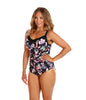 Black Tropics Underwire One Piece Swimwear