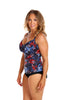 Embroidered Roses Underwire Tankini Swimsuit Top