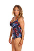 Embroidered Roses Under One Piece Swim Suit