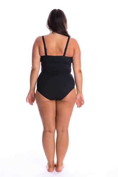 plus size black bathing suit