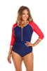 Luxe Sport 3/4 Sleeve One Piece