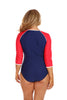 Luxe Sport 3/4 Sleeve Swim Suit