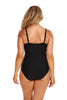 Black Criss Cross One Piece Swimwear