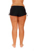 Black Adjustable Side Short Bikini Bottom Swimwear