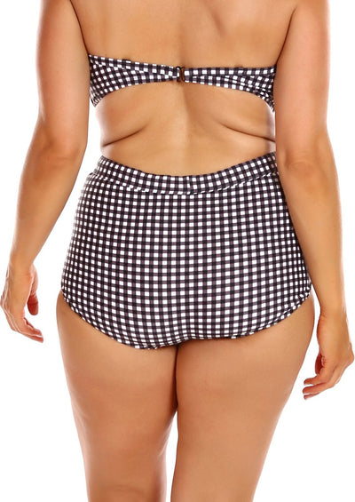 plus size high waisted swim bottoms