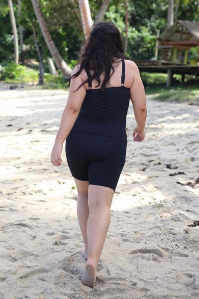 women's plus size swim shorts