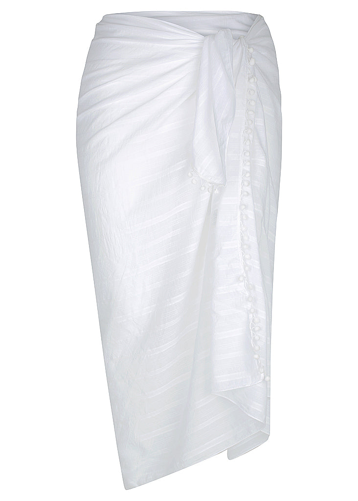 Beach Cover Up White Sarongs