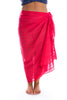 Beach Cover Up Red Sarongs