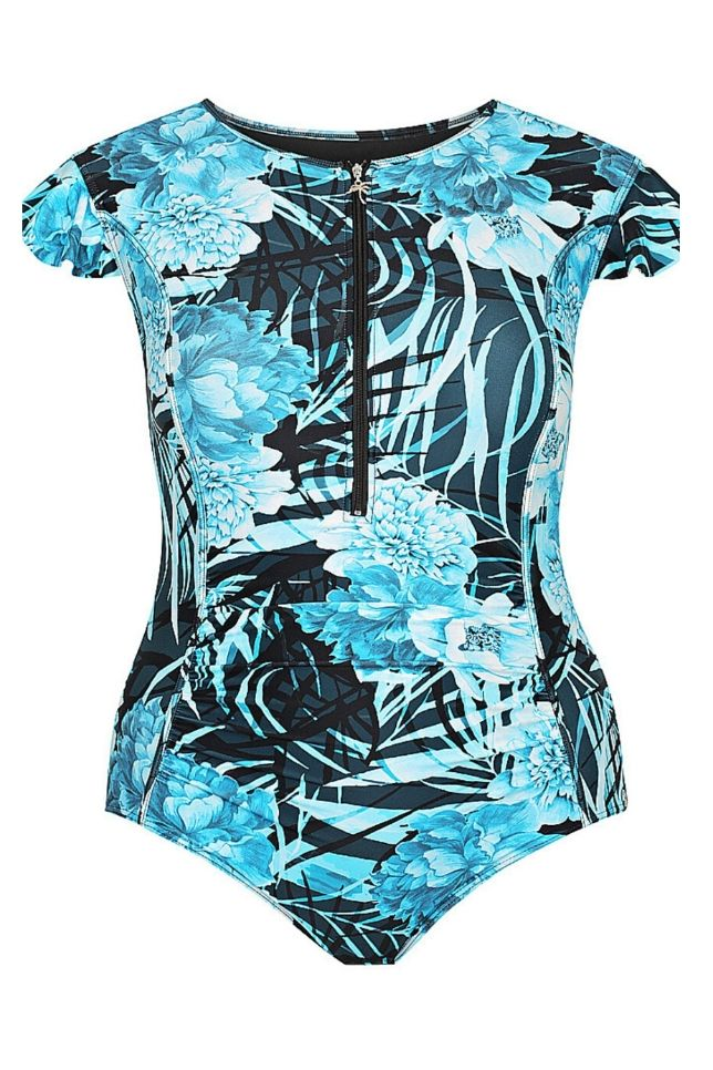short sleeve bathing suit plus size