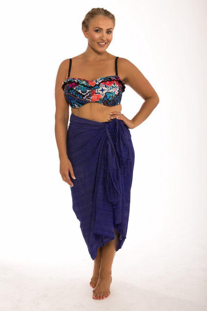 Beach Cover Up Navy Sarong