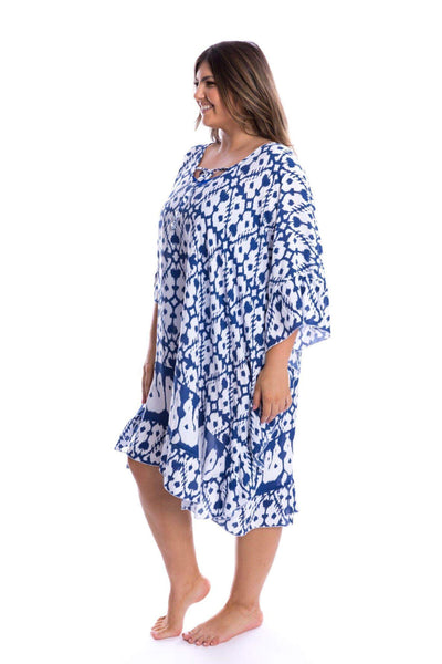 Plus Size kaftan navy