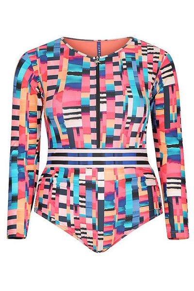 plus size long sleeve swimsuit