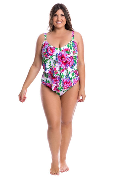 v neck low back one piece swimsuit