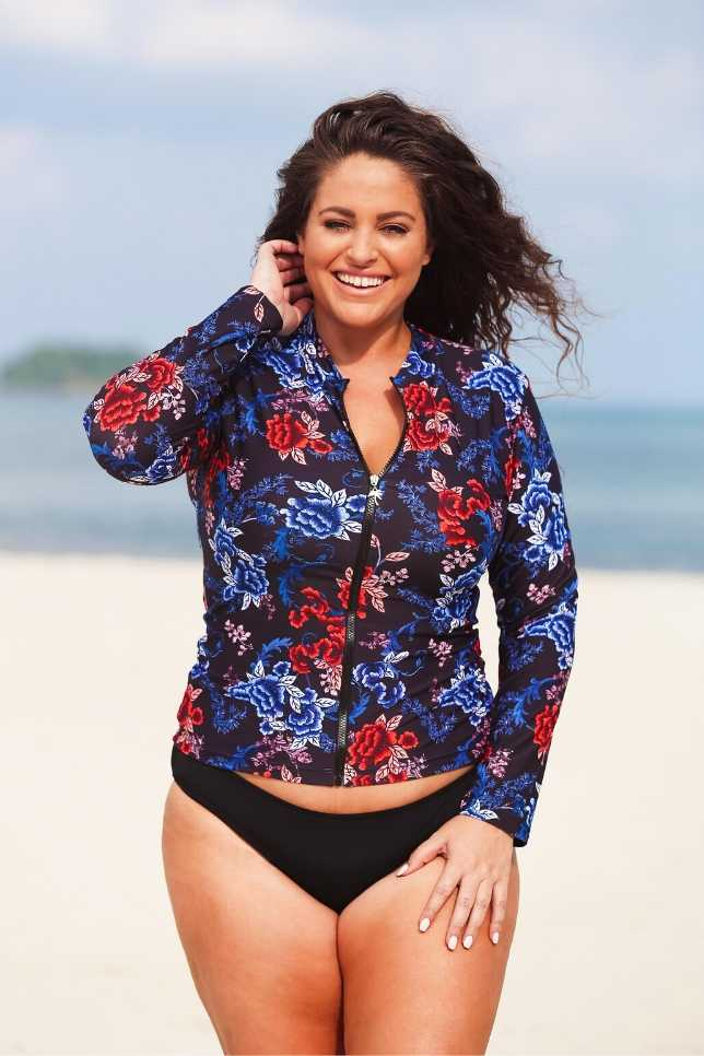 Embroidered Roses | Best Rash Guard