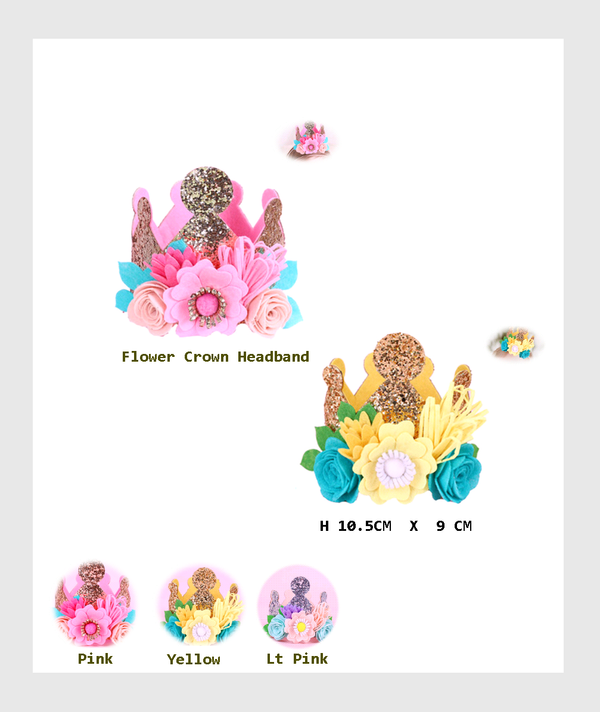 SF11-DIY003WP - 3 D Flower Crown Birthday Hat - 3 pieces Gift Set Pack/3件裝禮盒裝