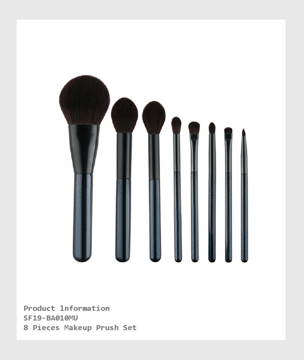 SF19-BA010MU - 8 Pieces Makeup Brush Set/ 8支化妝刷套裝